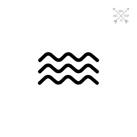 Waves simple icon Illustration