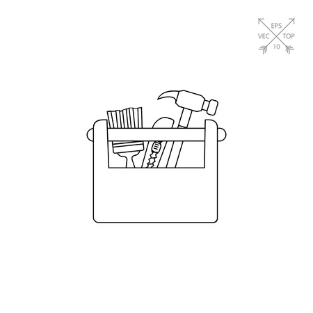 tackle box: Wooden Toolbox Icon