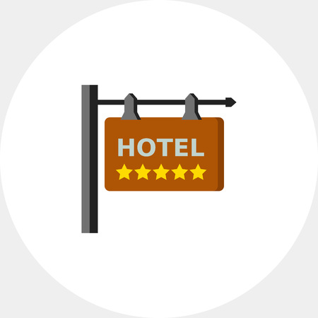 rating: Five star hotel icon Illustration