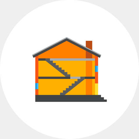 roof profile: Half of house icon