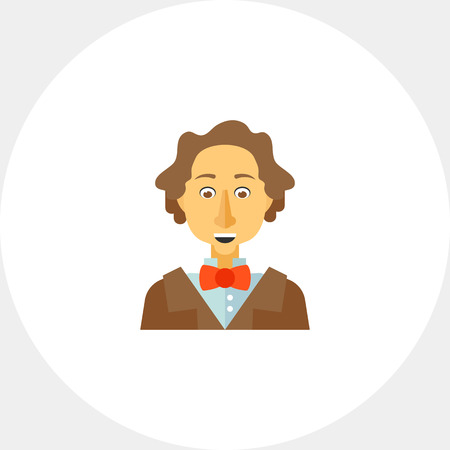 Hans Christian Andersen icon Illustration