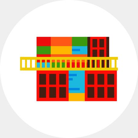 aires: La Boca building icon Illustration