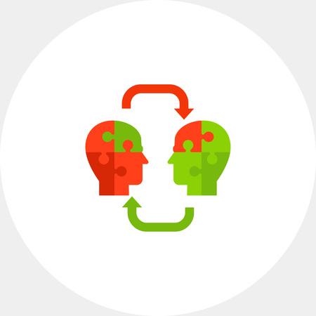 Concepto de conocimiento con icono de pieza del rompecabezas