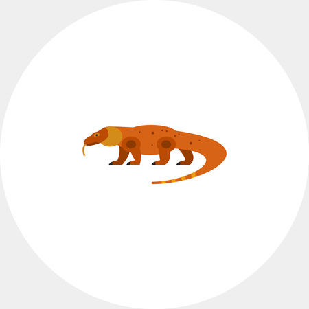 Komodo dragon vector icon