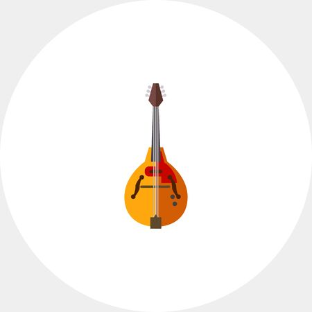 Mandolin musical instrument icon Illustration