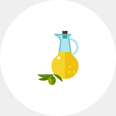 Oil and branch with olive icon