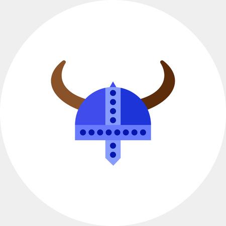 scandinavia: Viking helmet vector icon Illustration