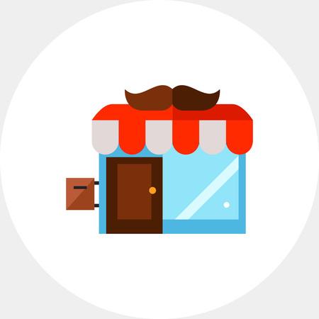 barbershop: Barbershop building icon