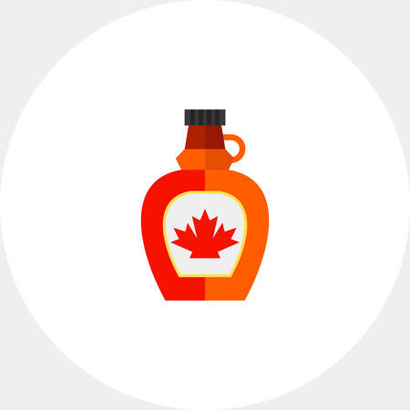 Bottle with maple syrup icon Illustration