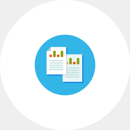 Business analytical report icon