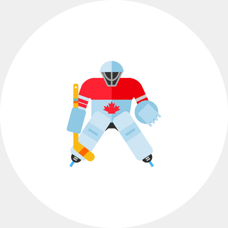 Canada hockey goalie icon