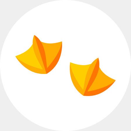 Ente Fußabdruck Symbol