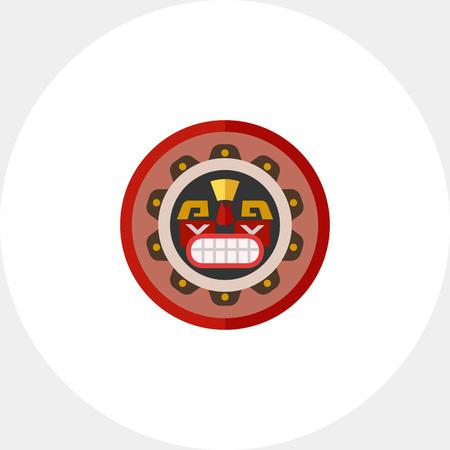 Canadian native mask icon Illustration