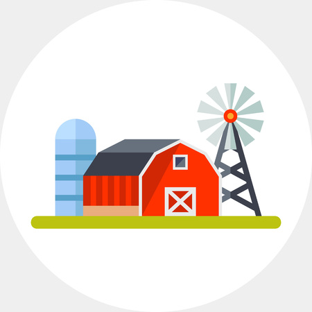 Farmland vector icon