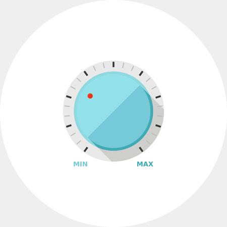 Round volume knob icon