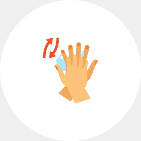 Rubbing Between Fingers Icon Illustration