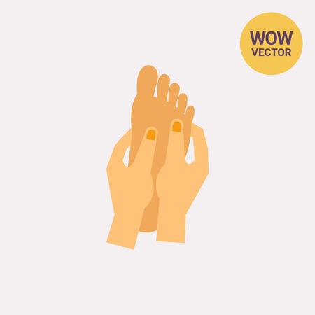 Hands massaging foot icon