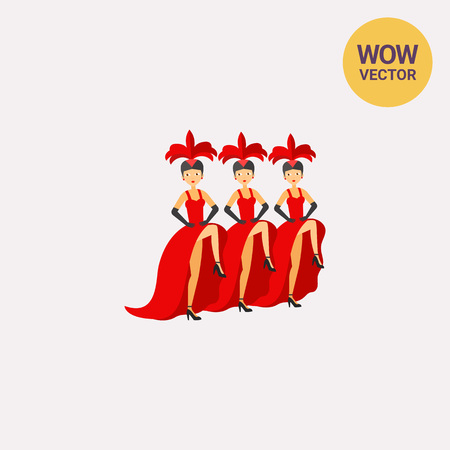 actress: French cancan dancers icon