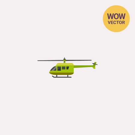 rescuing: Green military helicopter icon