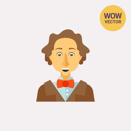 Hans Christian Andersen icon Ilustrace