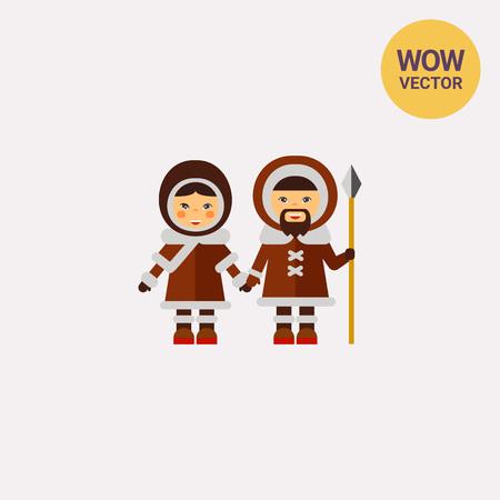Inuit couple icon