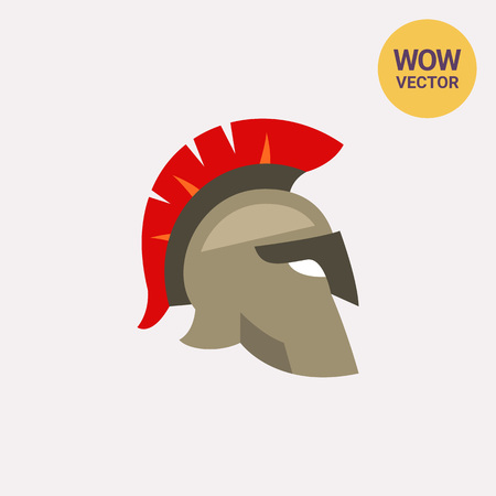 Icon of Roman legionnaire helmet. Soldier, gladiator, protection. Italy concept. Can be used for topics like Galea, legion or military