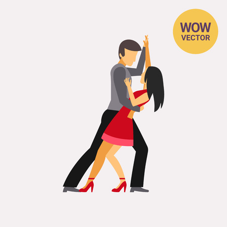 cuban culture: Icon of couple dancing. Illustration