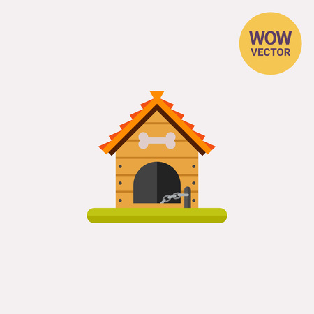 doghouse: Wooden dog house icon