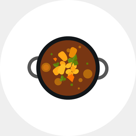 Top view of harira soup vector icon