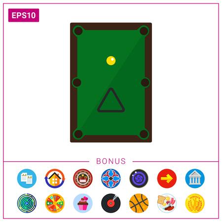 felt: Billiard table icon
