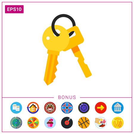 Bunch of Keys Icon Illustration