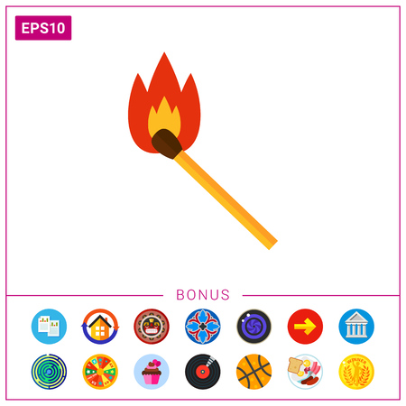 Burning match icon