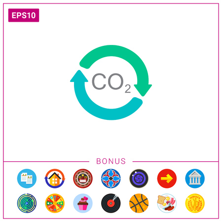 Carbon dioxide cycle Illustration