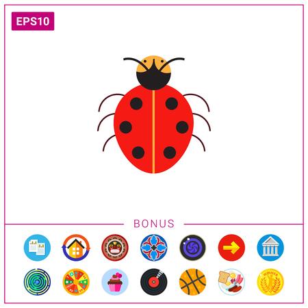 Cartoon ladybird icon