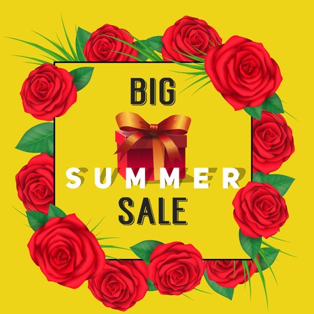 Big Summer Sale Lettering in Frame, Gift