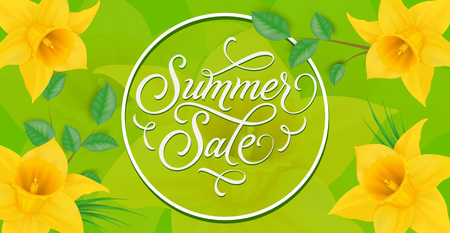 Summer Sale Lettering in Circle