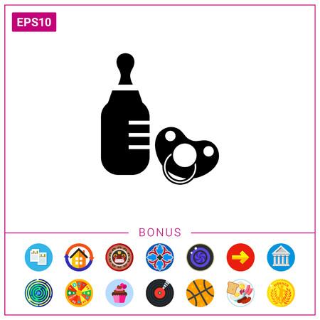 nursing bottle: Baby bottle and pacifier
