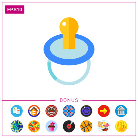 Baby pacifier icon