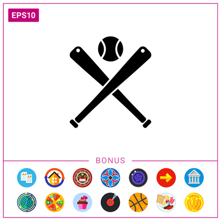 Icône simple de baseball