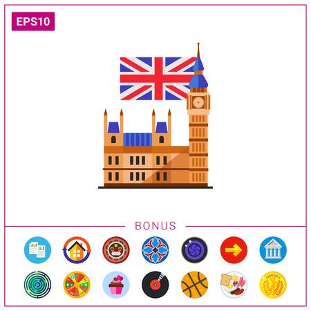 bandera de gran bretaña: Big Ben icono