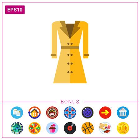 raincoat: Beige woman raincoat icon