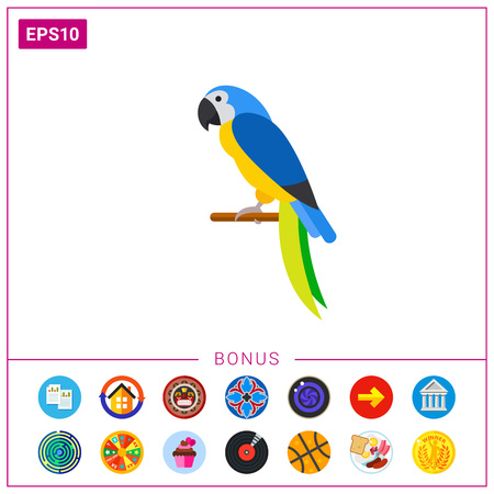 Blue-and-yellow macaw icon