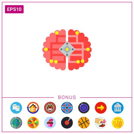 Brain as Cybernetics Concept Icon