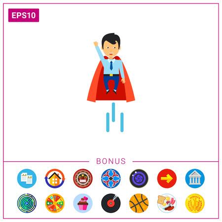 Businessman Superhero Icon.
