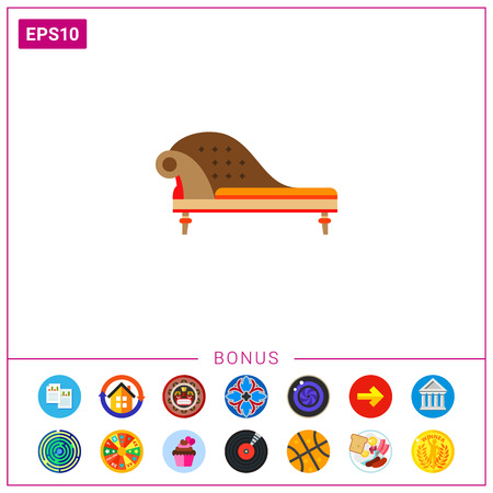 luxury house: Classic sofa. Domestic, antique, comfortable. Furnishing concept. Can be used for topics like furniture, interior design, marketing.