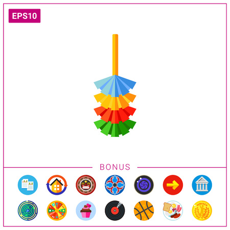 Colorful dust brush vector icon Illustration