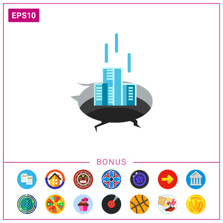 Company in Financial Difficulty Concept Icon