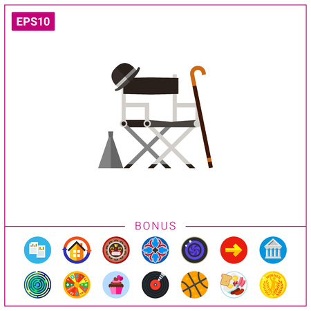 stuff: Director chair with stuff icon