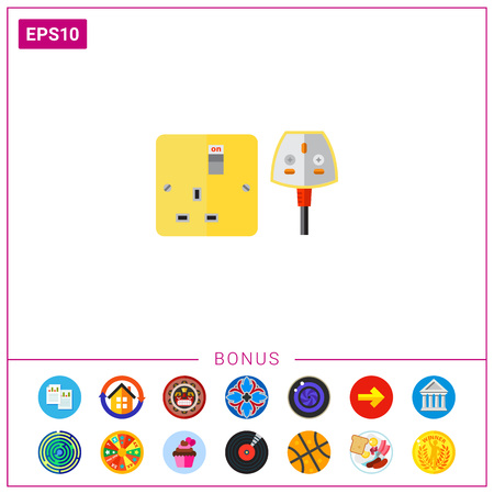 Electrical Outlet and Plug in UK Icon