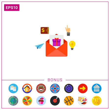 E-mail Marketing Vector Icon